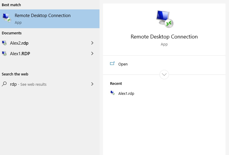RDP - Remote Desktop Connection